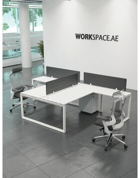 White - Ace T-Shape Workstation