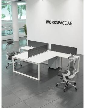 White - Ace T-Shape Workstation