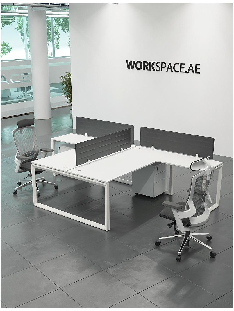 Ace Series Cluster Of 2x T Shape Workstation Desk