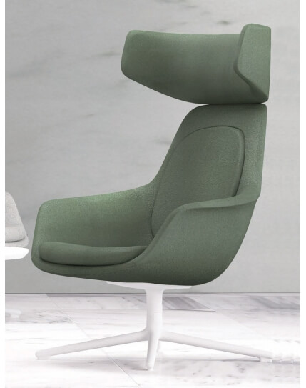 Archini Alger Lounge Arm Chair with Headrest