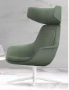 Archini Alger Lounge Arm Chair with Headrest