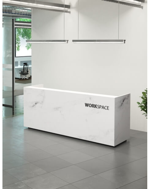 SM Olympus Marble Reception Desk
