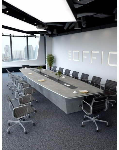 Concrete Bold Custom Made Meeting Table