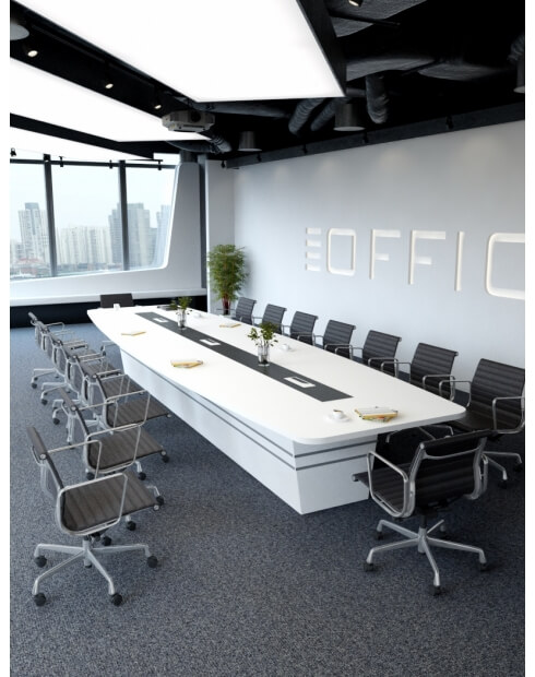 White Bold Custom Made Meeting Table