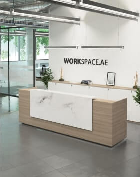 Venido Marble MDF Contemporary Reception Desk