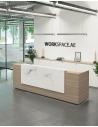 Venido Marble MDF Contemporary Reception Desk