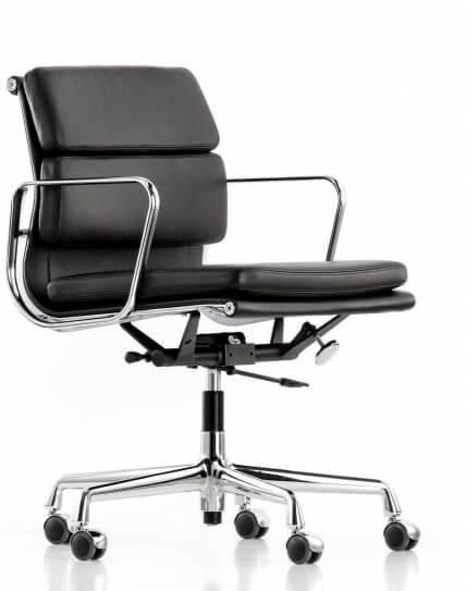 EamesClassic Soft Pad Medium Back Leather Chair