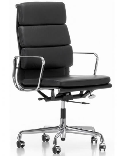 EamesClassic Soft Pad High Back Leather Chair