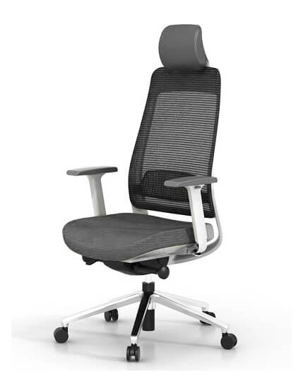 Front- Fila White Frame Ergonomic Executive Chair