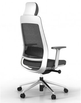 Fila White Frame Ergonomic Executive Chair