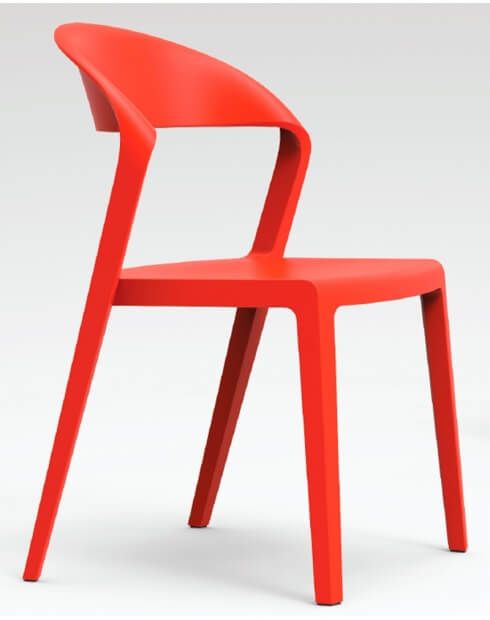 RED - Duoblock Multi-Purpose Designer Chair
