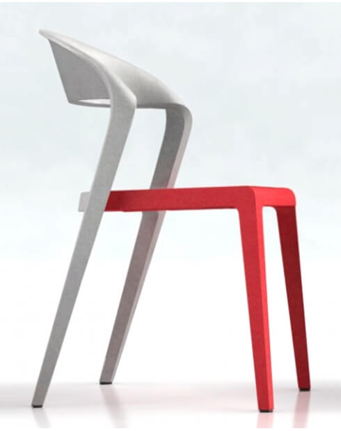 Red Gray Duoblock Multi-Purpose Designer Chair