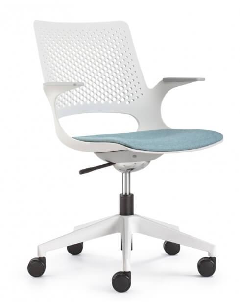 Side- Aperol White Designer Task Chair