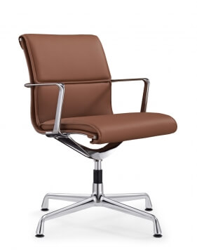 Luna Designer Genuine Leather Visitor Chair