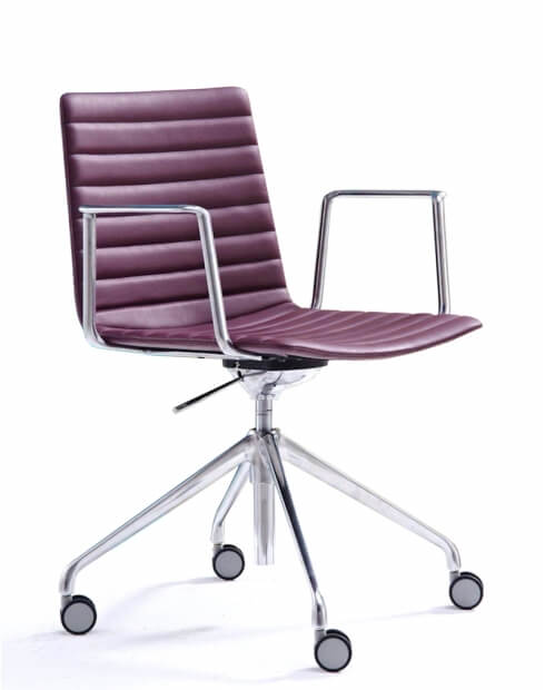 Simon Maroon Designer Chair