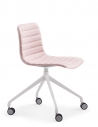 Simon Pink Fabric Designer Chair