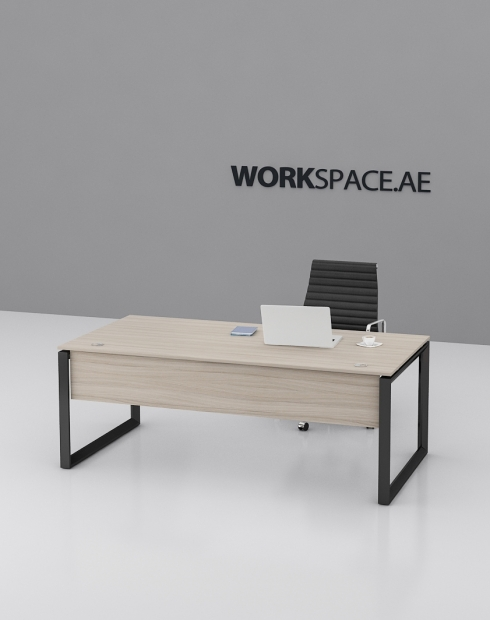 Black Ace Series Rectangular Executive Desk