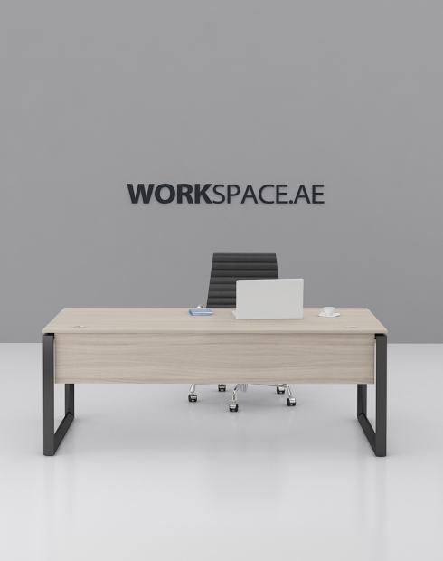 Black 2 Ace Series Rectangular Executive Desk