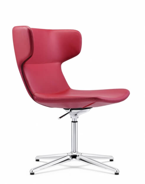 Rossa Leather Rose Red Chair