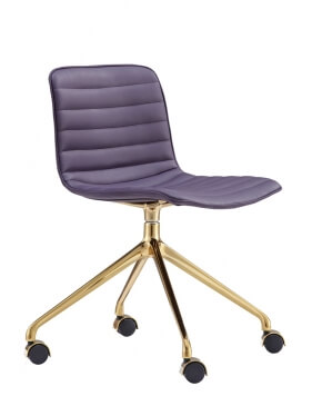 Simon Gold Maroon Designer Chair