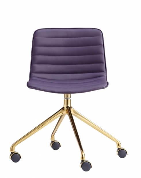 Simon Gold Maroon Designer Chair