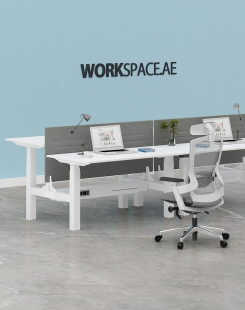 Max Series® Cluster of 2x Height Adjustable Workstation Desk