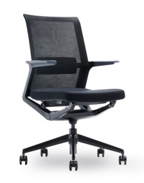Wing Black Modern Mesh Chair