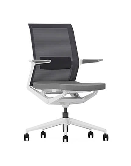 Wing White Modern Multi-Task Office Chair