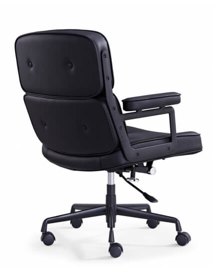 Eames Style Classic Leather Executive Chair Workspace Office Furn