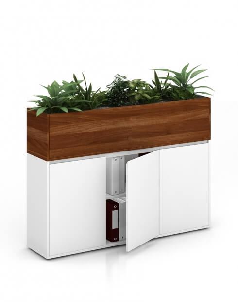 Tobbaco Aida Vetrina ECO Planter Desk Side Handless Cabinet