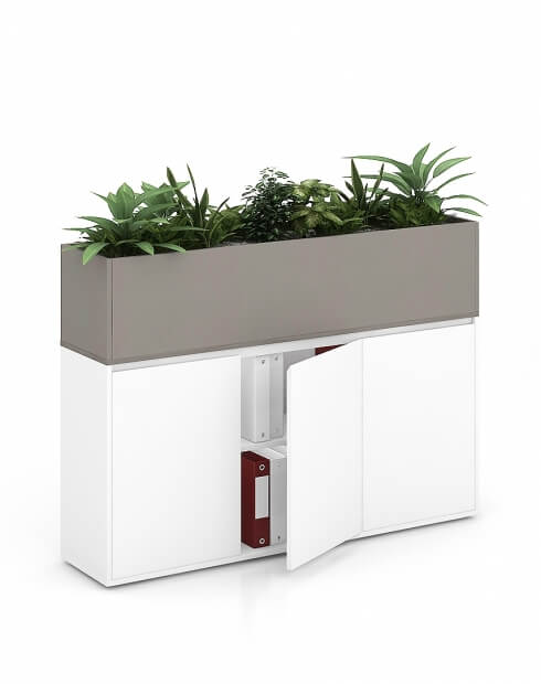 Sand Vetrina ECO Planter Desk Side Handless Cabinet