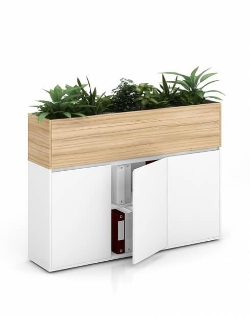 COCO Vetrina ECO Planter Desk Side Handless Cabinet