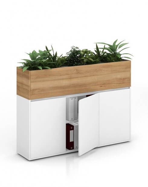 Pacific Vetrina ECO Planter Desk Side Handless Cabinet