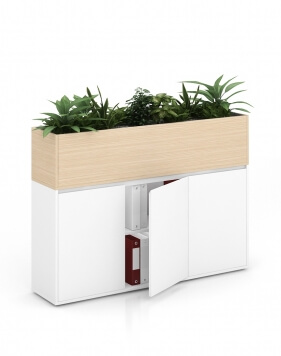 Sand Zebrano Vetrina ECO Planter Desk Side Handless Cabinet