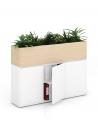Sand Zebrano Vetrina ECO Planter Desk Side Handless Cabinet