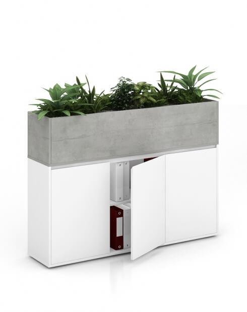 Boston Vetrina ECO Planter Desk Side Handless Cabinet