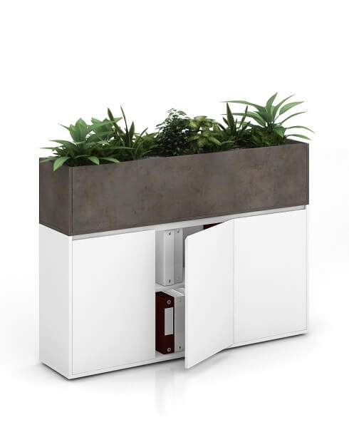 Chicago Vetrina ECO Planter Desk Side Handless Cabinet