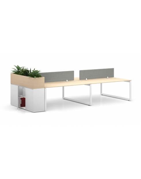 White Desk - Vetrina ECO Planter Desk Side Handless Cabinet