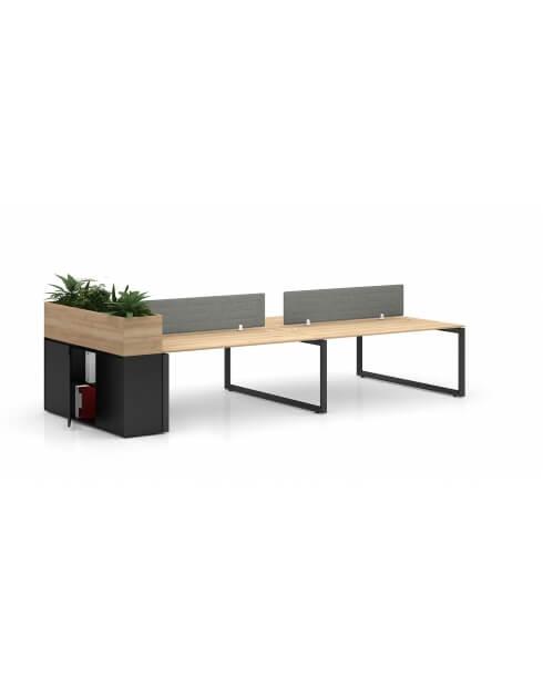Black Desk - Vetrina ECO Planter Desk Side Handless Cabinet
