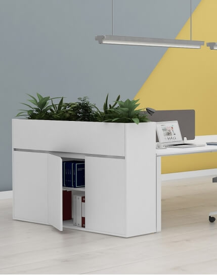 Interior Vetrina ECO Planter Desk Side Handless Cabinet