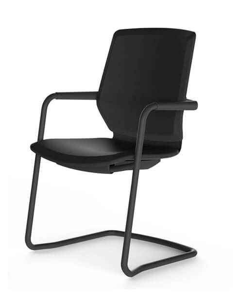 Black ITC Sliding Base Modern Visitor Chair