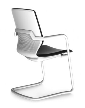 White ITC Sliding Base Modern Visitor Chair