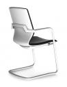 White ITC Sliding Base Modern Visitor Chair