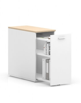 White Sand CASE Desk-Height Pedestal