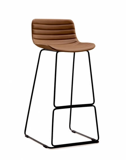 Shell Bar Stool Brown
