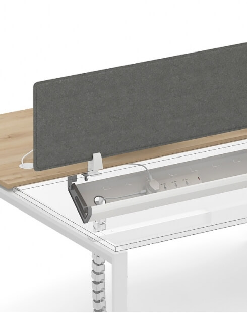 Workstation - Under-Desk Cable Tray Horizontal Wire Management Cradle