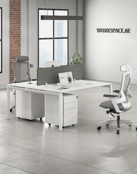 Cuadro Series Cluster of 2x Face to Face Workstation