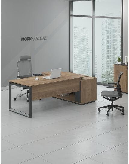 Club - Ace Manhattan L-Shape Executive Desk