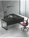 ATOM Black Super Matt L-Shape Desk - Red