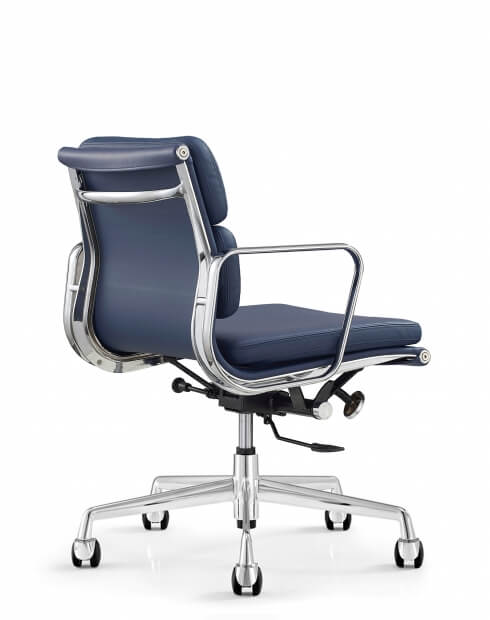 Back - Eames Style Royal Blue Chair